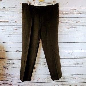 Zara Man Brown Textured Dress Pants